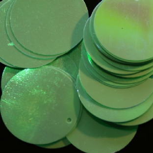 DISCONTINUED Bulk Bag Large 30mm Iridescent Opaque Mint Green Penny Sequins x 1000. SAVE £20